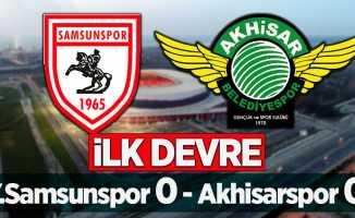 Y.Samsunspor 0 Akhisarspor 0 (İLK DEVRE)