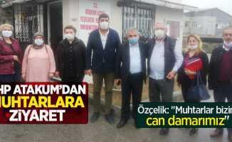 """CHP Atakum'dan muhtarlara ziyaret... Özçelik: """"Muhtarlar bizim can damarımız"""""""