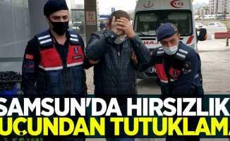 Samsun'da hırsızlık suçundan tutuklama