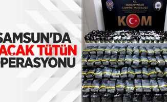 Samsun'da kaçak tütün operasyonu! 1 gözaltı