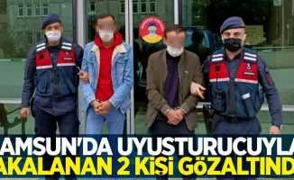 Samsun'da uyuşturucuyla yakalanan 2 kişi gözaltında