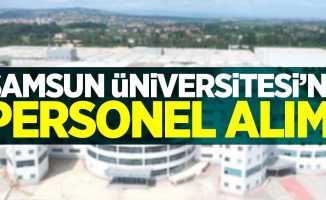 Samsun Üniversitesi'ne personel alımı