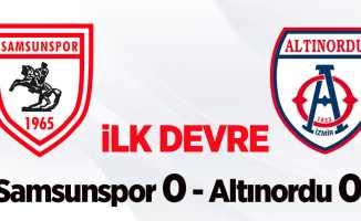 Samsunspor 0 Altınordu 0 (İlk Devre)
