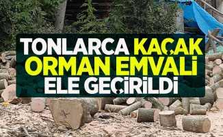 Tonlarca kaçak orman emvali ele geçirildi