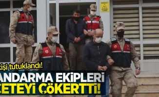Jandarmada ekipleri çeteyi çökertti! 6 tutuklama