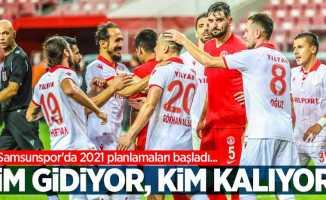 Samsunspor'da 2021 planlamaları başladı...  Kim gidiyor, kim kalıyor ?