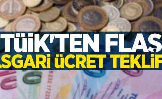TÜİK'ten flaş asgari ücret teklifi!