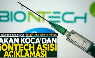 Bakan Koca'dan BioNTech aşısı açıklaması