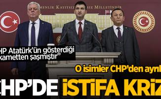 CHP'de istifa krizi