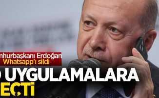 Cumhurbaşkanı Erdoğan Whatsapp'ı sildi, o uygulamalara geçti