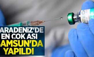 Karadeniz'de en çok aşı Samsun'da yapıldı