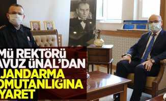 OMÜ Rektör'ü Prof. Dr. Yavuz Ünal Samsun İl Jandarma Komutanlığına İade-i Ziyarette Bulundu