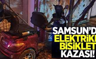 Samsun'da elektrikli bisiklet kazası