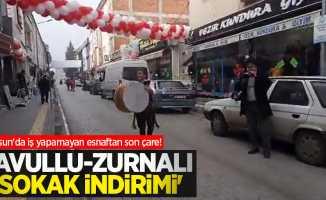 Samsun'da iş yapamayan esnaftan son çare! Davullu-zurnalı 'sokak indirimi'