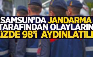 Samsun'da jandarma tarafından suçların yüzde 98'i aydınlatıldı
