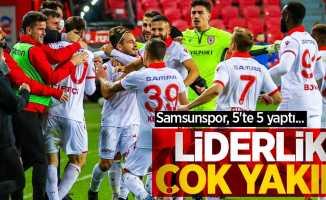 Samsunspor, 5'te 5 yaptı... Liderlikçok yakın