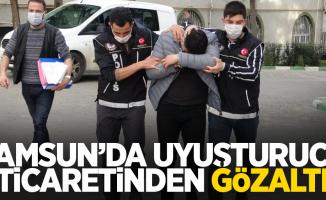 Samsun'da uyuşturucu ticaretinden gözaltı