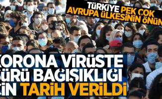 Türkiye'de sürü bağışıklığı ne zaman olacak?