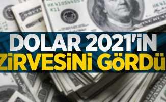 Dolar 2021'in zirvesini gördü!
