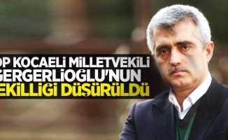 HDP Kocaeli Milletvekili Gergerlioğlu'nun vekilliği düşürüldü