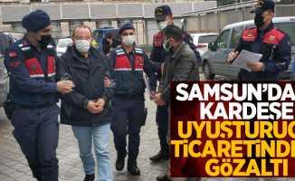 Samsun'da 2 kardeşe uyuşturucu ticaretinden gözaltı