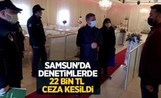 Samsun'da denetimlerde 22 bin TL ceza kesildi