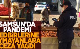 Samsun'da pandemi tedbirlerine uymayanlara ceza yağdı