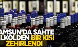 Samsun'da sahte alkolden bir kişi zehirlendi