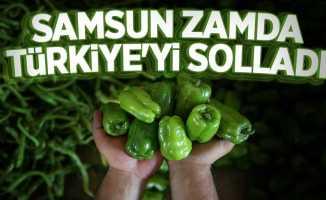 Samsun zamda Türkiye'yi solladı