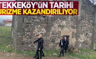 Tekkeköy'ün tarihi turizme kazandırılıyor