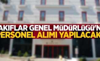 VGM'ye (Vakıflar Genel Müdürlüğü) personel alımı yapılacak!