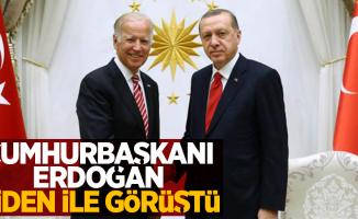 Cumhurbaşkanı Erdoğan Biden ile görüştü