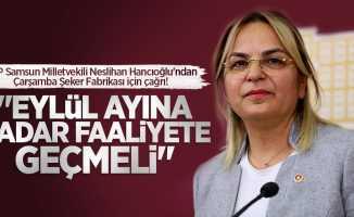 Hancıoğlu'ndan Çarşamba Şeker Fabrikası için çağrı