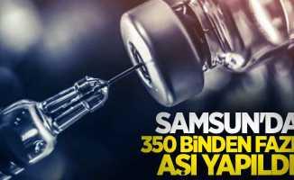 Samsun'da 350 binden fazla aşı yapıldı