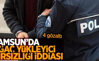 Samsun'da ağaç yükleyici hırsızlığı