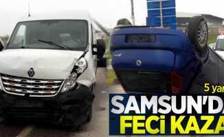 Samsun'da feci kaza: 5 yaralı