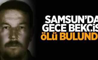 Samsun'da gece bekçisi ölü bulundu