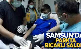 Samsun'da parkta bıçaklı saldırı: 1 yaralı