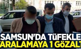 Samsun'da tüfekle yaralamaya 1 gözaltı