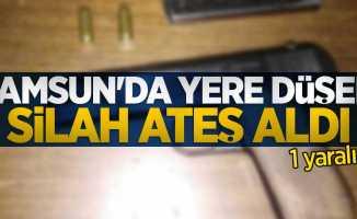 Samsun'da yere düşen silah ateş aldı: 1 yaralı