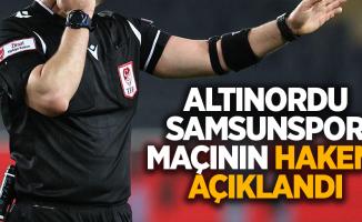 Altınordu-Samsunspor Maçının Hakemi Açıklandı