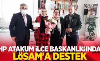 CHP Atakum İlçe Başkanlığından LÖSAM'a destek