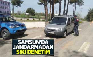 Samsun'da jandarmadan sıkı denetim