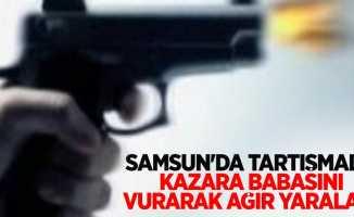 Samsun'da tartışmada kazara babasını vurarak ağır yaraladı
