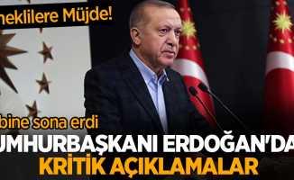 Kabine sona erdi Cumhurbaşkanı Erdoğan'dan kritik açıklamalar