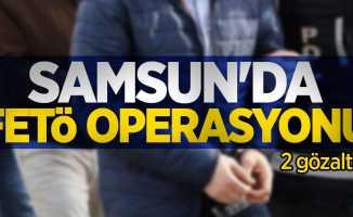 Samsun'da FETÖ operasyonu: 2 gözaltı