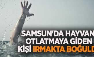 Samsun'da hayvan otlatmaya giden kişi ırmakta boğuldu