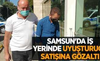 Samsun'da iş yerinde uyuşturucu satışına gözaltı