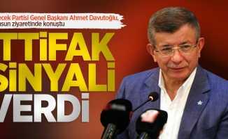Samsun'da konuşan Ahmet Davutoğlu ittifak sinyali verdi