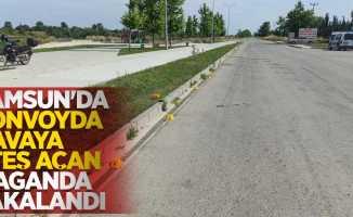 Samsun'da konvoyda havaya ateş açan maganda yakalandı